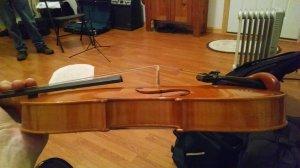 left handed violin