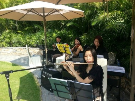Michelle (flute) Shing (guitar) Rod (piano) Ellen (violin)