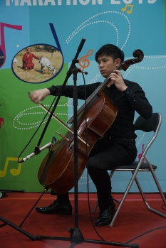 Teacher Louis on Cello