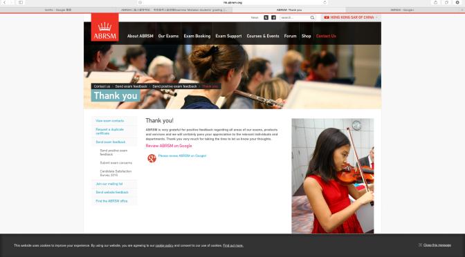 ABRSM二級小提琴考試: 考官誤考三級音階Examiner Mistaken students' grading.