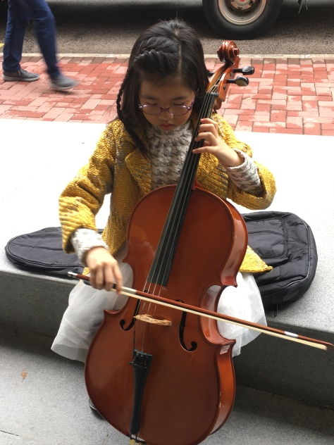 Busking and practicing