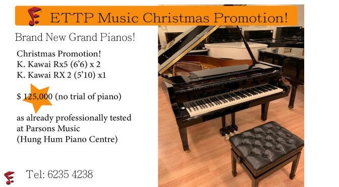 Christmas Promotion!!! Brand new grand piano and violin!